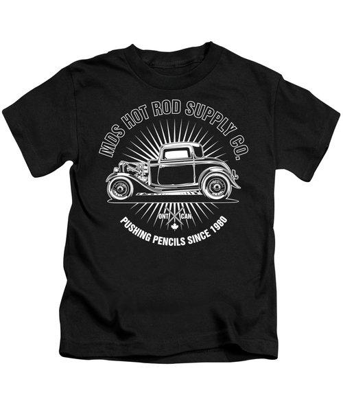 Hot Rod Shop Shirt Kids T-Shirt