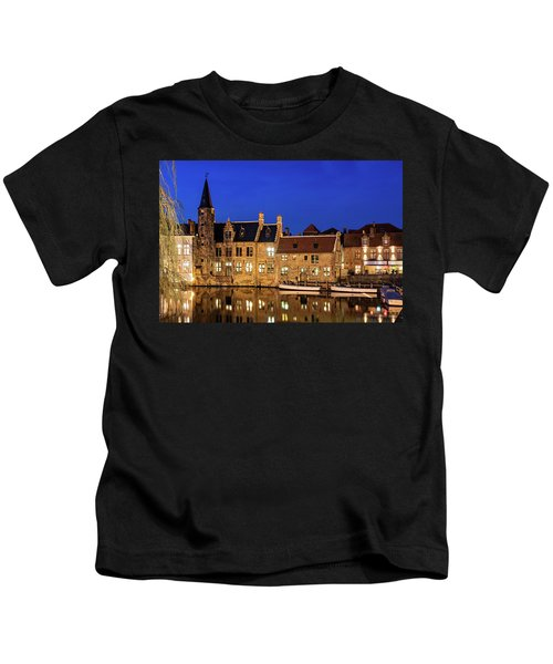 Houses By A Canal - Bruges, Belgium Kids T-Shirt