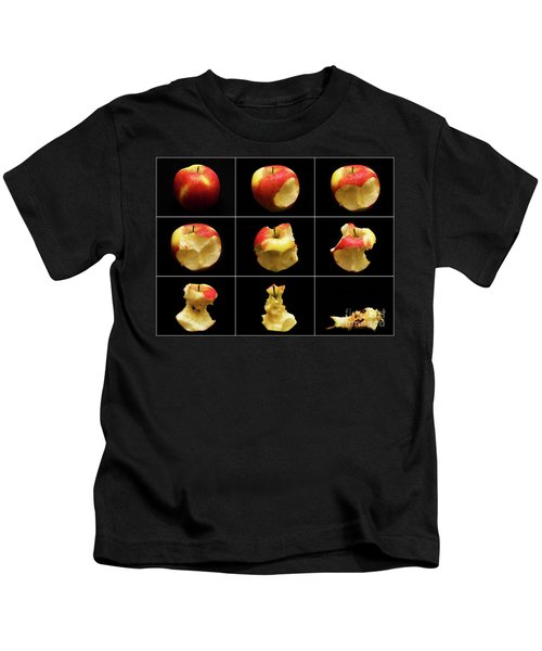 How To Eat An Apple In 9 Easy Steps Kids T-Shirt