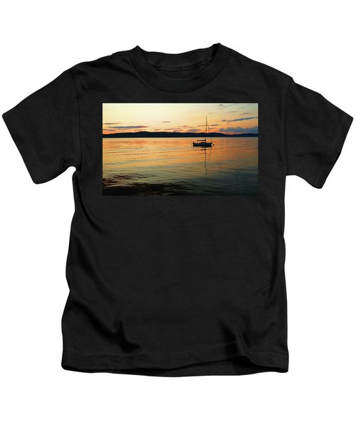 Hudson River From Irvington In Westchester County Kids T-Shirt