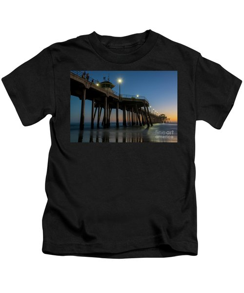 Huntington Beach Pier At Dusk Kids T-Shirt