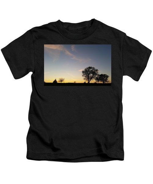 Husker Sunset Silhouette Kids T-Shirt