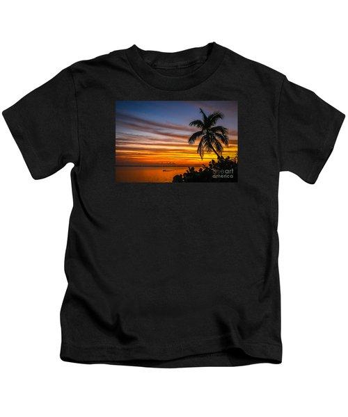 Hutchinson Island Sunrise #1 Kids T-Shirt