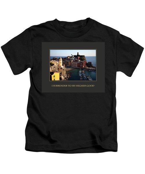 I Surrender To My Higher Good Kids T-Shirt