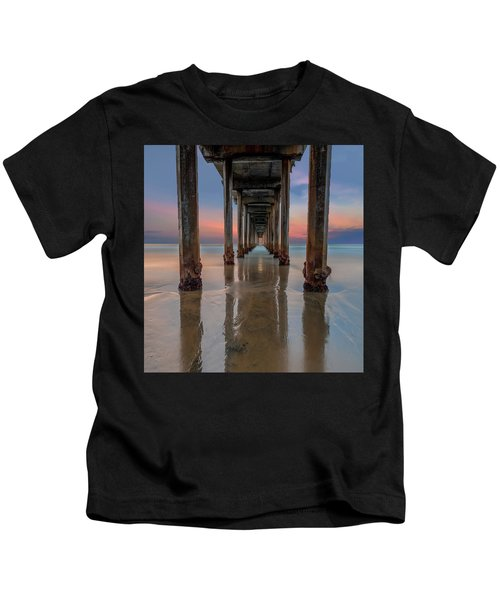 Iconic Scripps Pier Kids T-Shirt