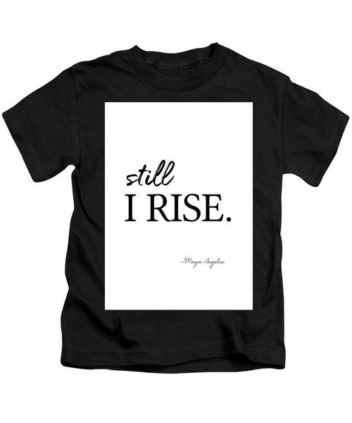 I'll Rise #minimalism 3 Kids T-Shirt
