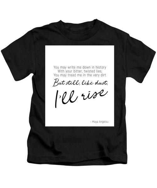 I'll Rise #minimalism Kids T-Shirt