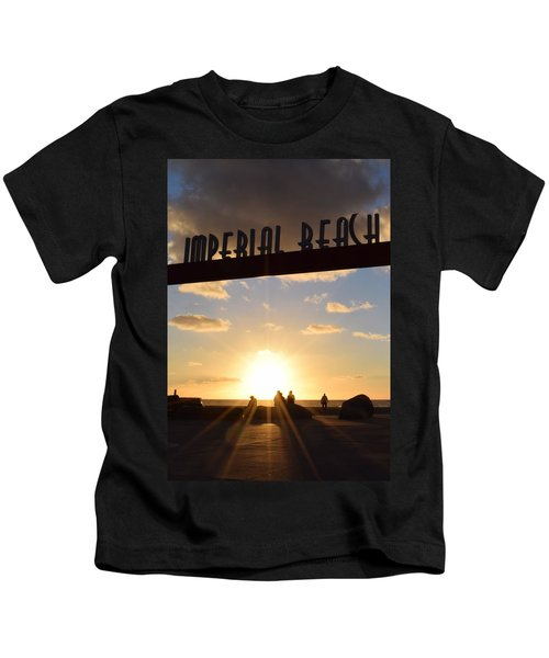 Imperial Beach At Sunset Kids T-Shirt