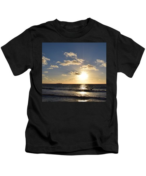 Sunset Reflection At Imperrial Beach Kids T-Shirt