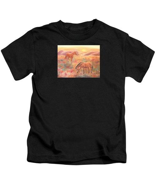 Impressions At Sunset Kids T-Shirt