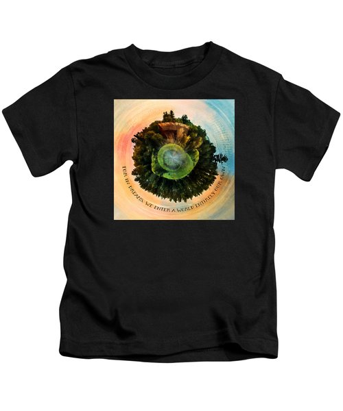 In Dreams A World Entirely Our Own Orb Kids T-Shirt