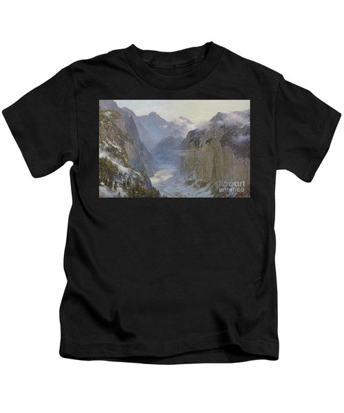 In His Hands Are The Deep Places Of The Earth Kids T-Shirt