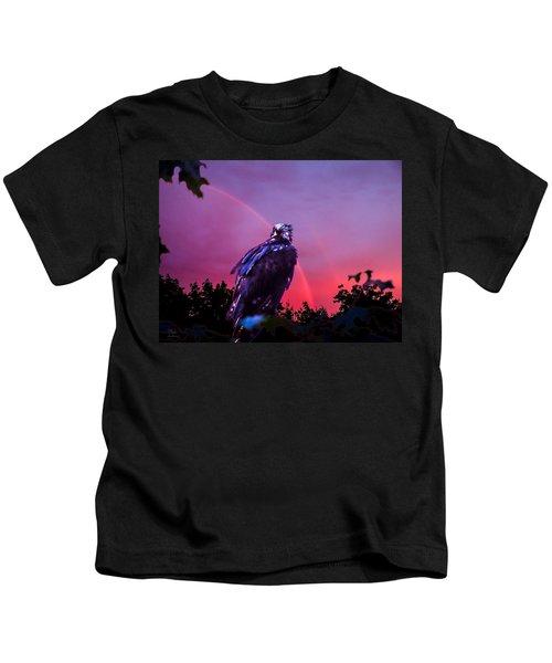 In The Eye Of A Hawk Kids T-Shirt