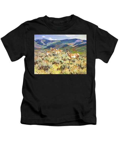 In The Foothills - Antelope Kids T-Shirt