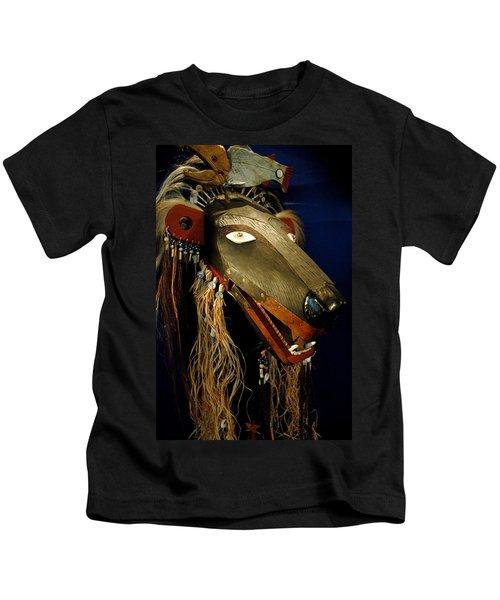 Indian Animal Mask Kids T-Shirt by LeeAnn McLaneGoetz McLaneGoetzStudioLLCcom