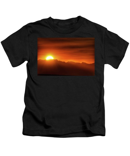 Indian Peaks Sunset Kids T-Shirt