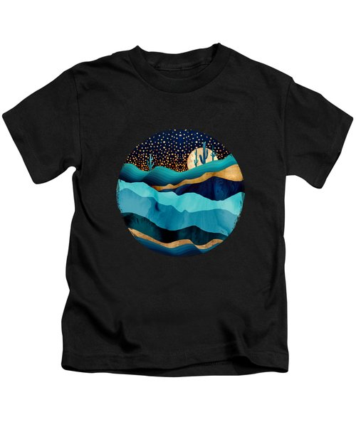 Indigo Desert Night Kids T-Shirt