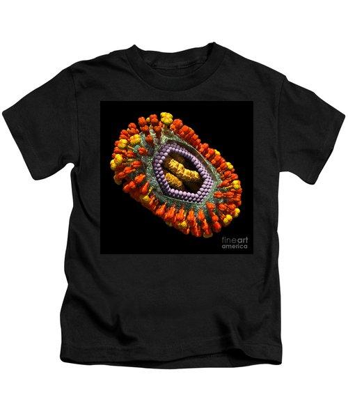 Influenza Virus Cutaway 5 Kids T-Shirt