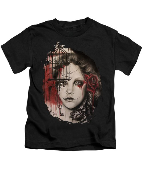 Inner Demons  Kids T-Shirt by Sheena Pike