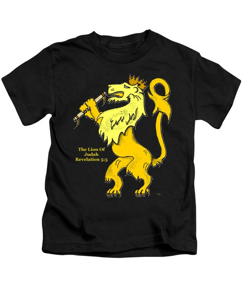 Inspirational - The Lion Of Judah Kids T-Shirt by Glenn McCarthy Art and Photography