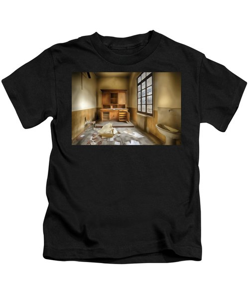 Interior Furniture Atmosphere Of Abandoned Places Dig Paint Kids T-Shirt