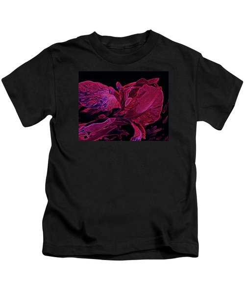 Iris Deep Red Glow Kids T-Shirt