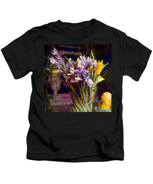 Irises In A Glass Kids T-Shirt