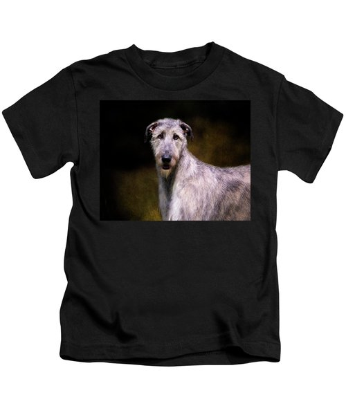 Irish Wolfhound Portrait Kids T-Shirt