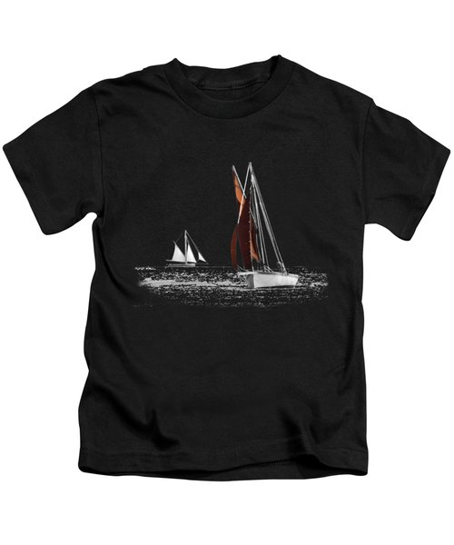 Isolated Yacht Carrick Roads On A Transparent Background Kids T-Shirt