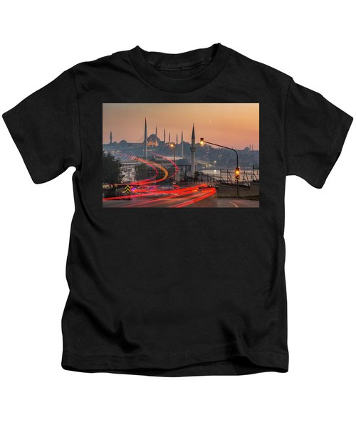 Istanbul At Sunset Kids T-Shirt