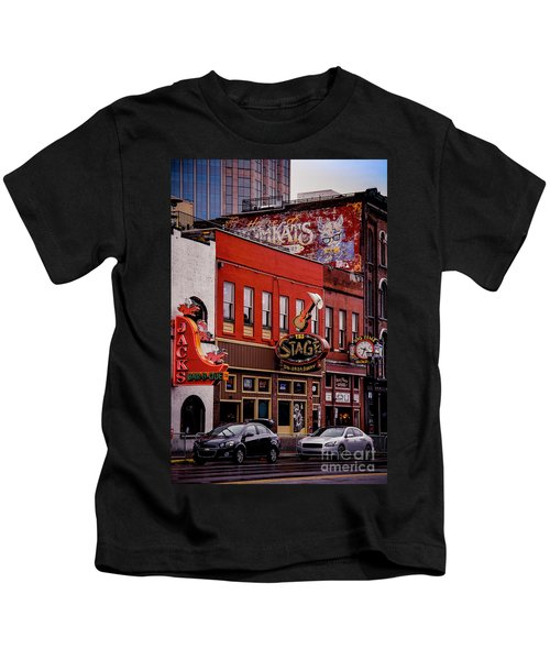 Jack's Bar-b-que And The Stage On Broadway Kids T-Shirt