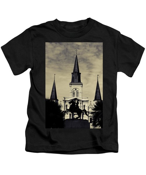 Jackson Square - Split Tone Kids T-Shirt