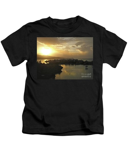 Jamaica Sunset Bay Kids T-Shirt