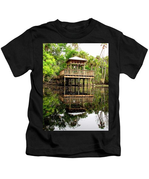 James E Grey Fishing Pier Kids T-Shirt