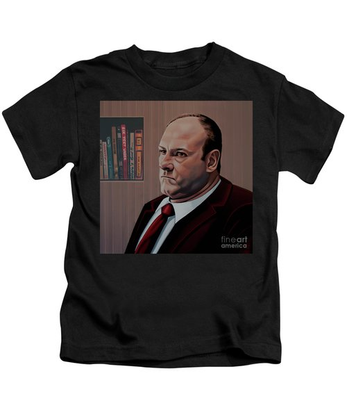 James Gandolfini Painting Kids T-Shirt