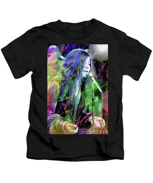 Janis Joplin Blue Kids T-Shirt