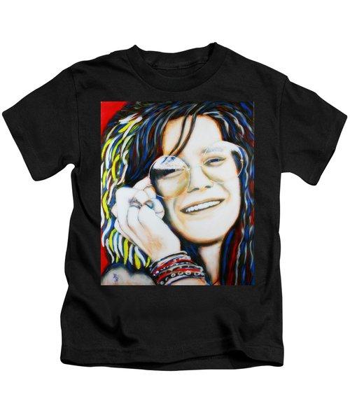 Janis Joplin Pop Art Portrait Kids T-Shirt