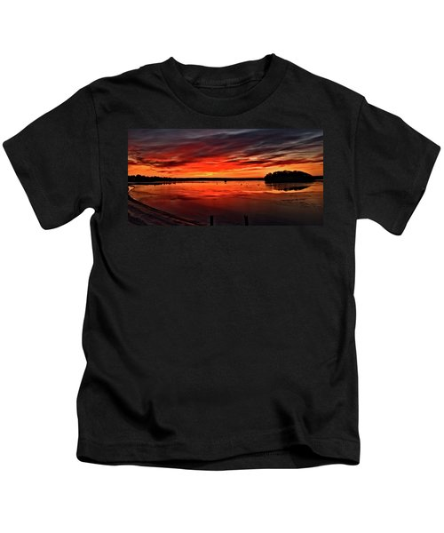 January Sunrise Onset Pier Kids T-Shirt