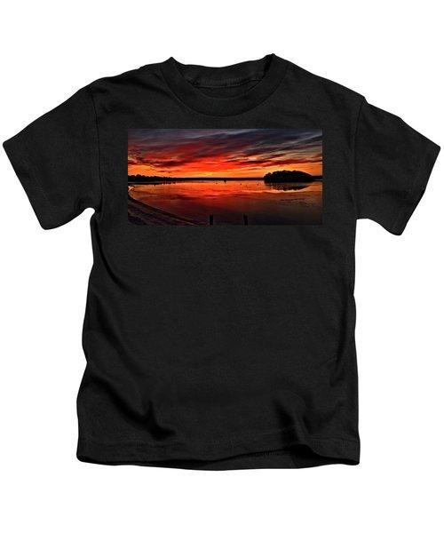 January Sunrise Onset Pier Kids T-Shirt