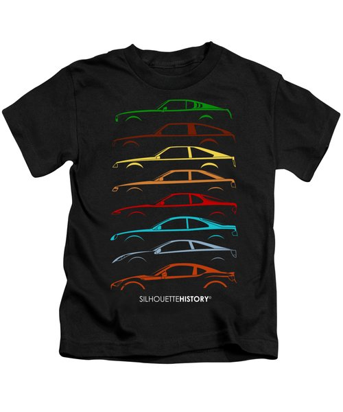 Japanese Coupe Silhouettehistory Kids T-Shirt