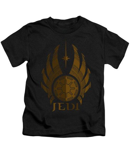 Jedi Symbol - Star Wars Art, Brown Kids T-Shirt