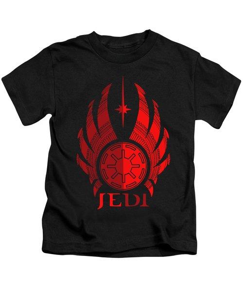 Jedi Symbol - Star Wars Art, Red Kids T-Shirt