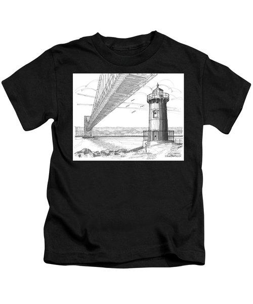 Jeffrey's Hook Lighthouse Kids T-Shirt