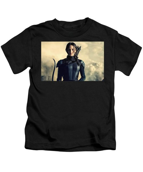 Jennifer Lawrence The Hunger Games  2012 Publicity Photo Kids T-Shirt