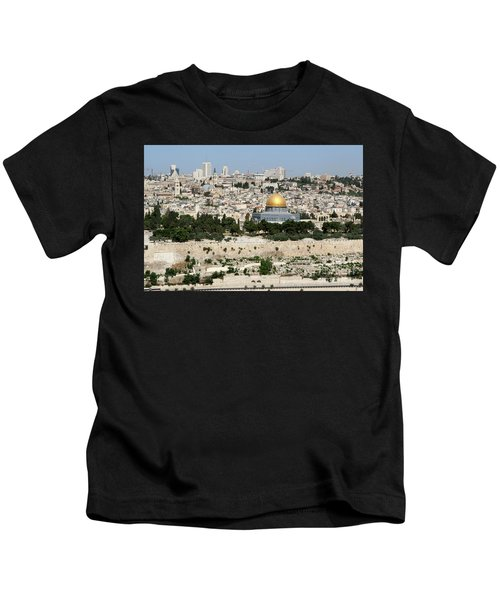 Jerusalem Skyline Kids T-Shirt