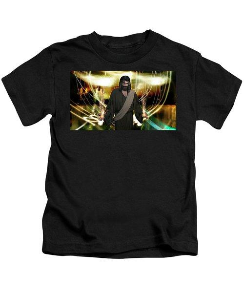 Jesus Christ- God Shines In Glorious Radiance Kids T-Shirt
