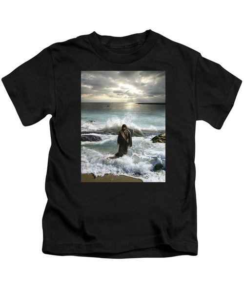 Jesus Christ- I Have Come As A Light Into The World Kids T-Shirt