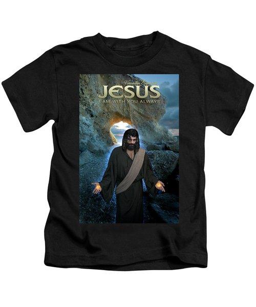 Jesus- I Am With You Always Kids T-Shirt