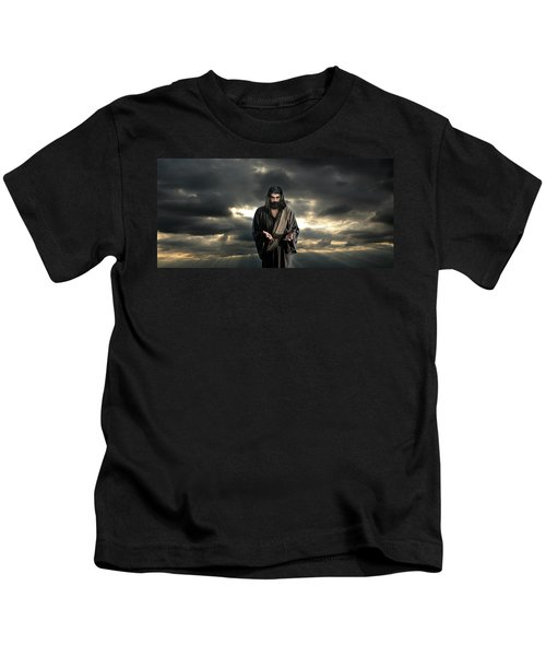 Jesus In The Clouds With Glory Kids T-Shirt