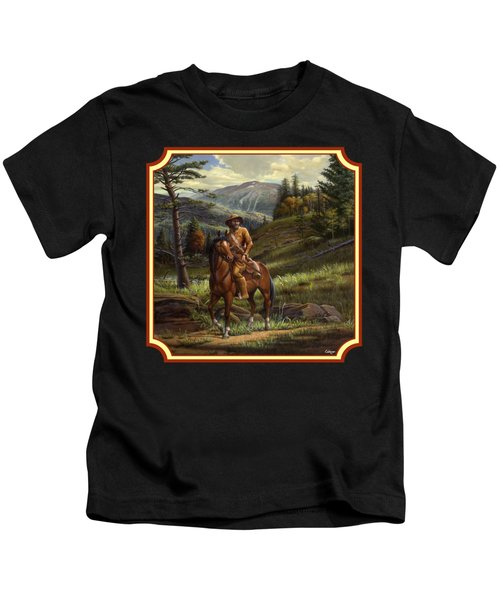 Jim Bridger - Mountain Man - Square Format Kids T-Shirt